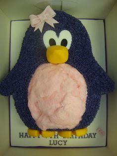 2D Shaped Penguin Cake