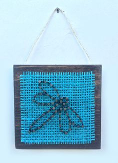 Dragonfly String Art Home or Office Decor by Edgeofthewoodsart