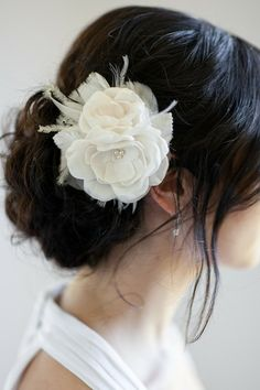 AUDRINA Bridal Headpiece Wedding Hair Flowers by percyhandmade Organza Flowers, Wedding Hair Flowers, Headpiece Wedding, Wedding Hair Pieces, Wedding Hair And Makeup, Bridal Headpieces, Flowers In Hair, Fascinators, Wedding Bun
