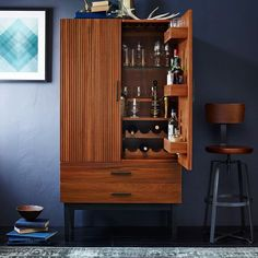 The Endearing Tall Bar Cabinet Reede Bar Cabinet Tall West Elm is one of pictures of furniture ideas for your home or office. The resolution of Endearing T Discover the gallery of the Endearing Tall Bar Cabinet Reede Bar Cabinet Tall West Elm Tall Bar Cabinet, Bar Storage Cabinet, Modern Bar Cabinet, Drinks Cabinet, Storage Shelves, Kitchen Storage, Liquor Cabinet, Home Bar Furniture, Furniture Sale