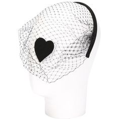 Pre-owned Headband with veil (€155) ❤ liked on Polyvore featuring accessories, hair accessories, black, embellished headband, hair band headband, head wrap headbands, head wrap hair accessories and red valentino
