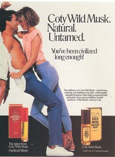 Coty Wild Musk - 1986....I totally remember this ad in 17magazine