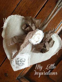 My Little Inspirations: {Soft shabby heart} - Handmade Valentine