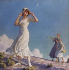 Ladies on a Hill (also known as High Country) (1917) -  Charles Courtney Curran - (American, 1861 - 1942)