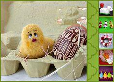 Wieńce na drzwi, zabawne kurczaki i zające, nietypowe koszyczki słowem - fajne, wiosenne inspiracje :)
