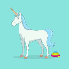 Unicorn Poop Art Print by See Mike Draw | Society6