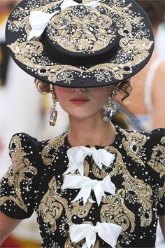 That hat looks divine! | Meadham Kirchhoff #Wicksteads #QueenofHats