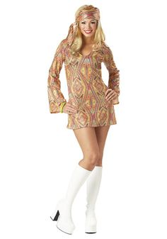 This womens groovy disco costume is a retro costume idea for women. Become a sexy disco girl with this hippie costume and pair up with our mens costume. 70s Halloween Costumes, 70s Costume, Hippie Costume, Adult Costumes, Costumes For Women, Costume Ideas, Vampire Costumes, Easy Costumes, Family Costumes