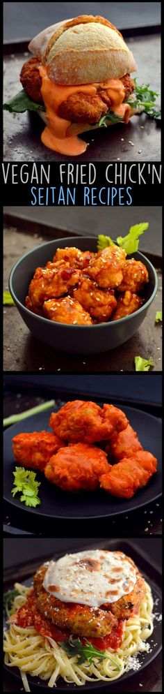 4 Vegan Fried Chicken Recipes - Vegan But Lazy - vegane Seitan Recipes, Vegetarian Recipes, Cooking Recipes, Healthy Recipes, Tagine Recipes, Zoodle Recipes, Sirloin Recipes, Beef Sirloin, Cooking Games