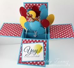 Pepper On Balloon, CC Designs, Roberto's, card in a box, CC Designs April 2014 release