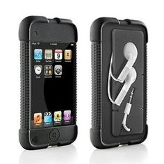 Jacket Case with Cord Management  for iPod touch 1G (Black)
