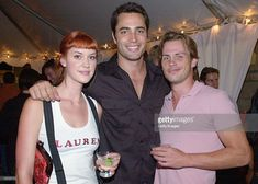 Actors (l to r) Lauren Lee Smith, Victor Webster and Forbes March of the show Mutant X are seen at the Ray-Ban Visionary Award announcement party during the 27th Annual Toronto International Film Festival on September 10, 2002 in Toronto, Ontario. The award will be handed out at Sundance to an individual who has raised social consciousness and inspires audiences through their films. (Photo by Getty Images).