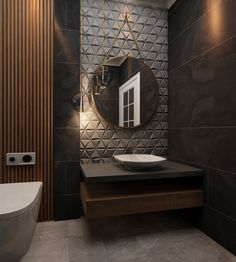 bathroom on Behance Washroom Design, Bathroom Design Luxury, Modern Bathroom Design, Wc Design, Toilet Design, Living Room Sofa Design, Home Room Design, Washbasin Design, Modern Toilet