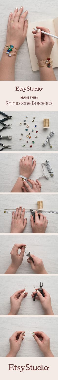 Make glam, eye-catching bracelets with vintage rhinestone connectors. If you love making your own jewelry, this DIY is for you.