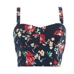 Kelly Brooks Floral Print Bralet and Shorts - Retro!