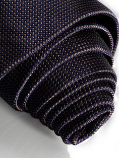 Men's tie dots B66950846 Tie, navy. 100% silk. With brown dot pattern.  Label with Mercedesβ-Benz lettering. Width 8.5 cm. Made in Italy.