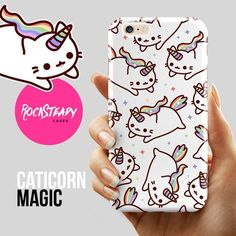 Caticorn iPhone 6 case - cute cat unicorn pattern phone case for the iPhone 6 by Rock Steady Cases. (Also available as phone cases for the models listed below.) Perfect gift for unicorn/cat lovers! Stylish, slim, durable and lightweight. For more cute pho Iphone 5s, Iphone 7 Plus, Coque Iphone 5c, Iphone 6 Cases, 6s Phone Case, Galaxy Phone Cases, Iphone Charger, Unicorn Phone Case, Kawaii Phone Case