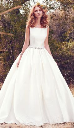 Maggie Sottero Designs Utilizes A Variety Of Fabric To Create Simple Wedding Dresses Such As