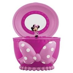 Personalized bow holder jewelry box minnie by for Minnie mouse jewelry box
