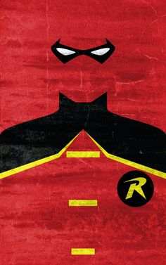 Robin Superhero Poster. Super Hero Minimalist Poster Designs by Calvin Lin.
