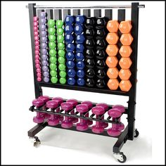 Dumbell Racks    Aerobic Pac - Lockable Rack