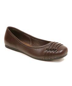 Look what I found on #zulily! Brown Loop Ballet Flat #zulilyfinds