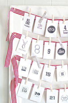 DIY Advent Calendar with Activity Cards