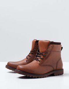 Bershka Spain - Felt shearling cuff boots
