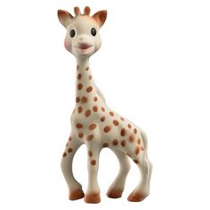 Sophie la girafe is THE BABY'S FIRST TOY, stimulating all 5 senses from the earliest age. The Sophie teether is made from 100% rubber; it's PVC - and Phthalate-free. Sophie is the perfect companion for your little one!