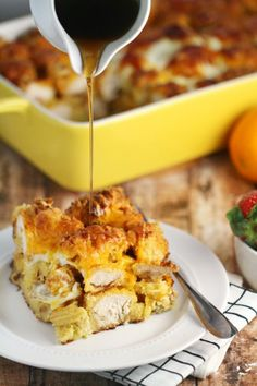 Chicken and Waffles Casserole.