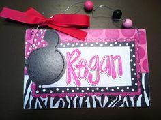 Hand personalized mouse room name sign door hanger