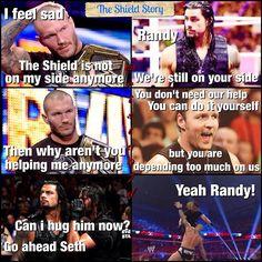 The Shield and Randy Orton lol Wrestling Memes, Watch Wrestling, Randy Orton, Wwe Raw And Smackdown, Wrestlemania 29, Roman Reigns Dean Ambrose, Wwe Funny, The Shield Wwe, Wwe Tna