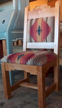 Refinish with Pendleton Southwestern Chairs, Southwestern Home, Southwest Decor, Southwestern Decorating, Western Furniture, Rustic Furniture, Home Furniture, Armoire, Ranch Decor