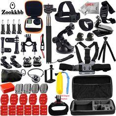 Zookkbb accessories set for Gopro / Go pro gopro hero 5 4 3 2 Black Edition kit mount for SJCAM M10 SJ4000 Eken h8r case 12J #Affiliate