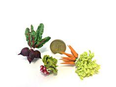 Puppenhaus Miniatur-Bundles von Gemüse mit Tops 01:12