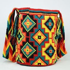 Подлинные Большие WAYUU маленькая сумка 100% колумбийский, богемный Hobo лучших ручной работы 1256