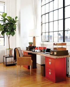 Endüstriyel stil çalışma odası