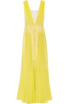 By Malene Birger Nadra plunge-front silk-chiffon gown | THE OUTNET