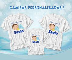 Camisa para chá de bebê, Batizado, chá de frauda e comemoração do nascimento personalizado conforme sua solicitação