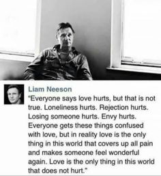 Brilliant quote by Liam Neeson