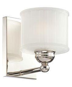 Shown in Polished Nickel finish and Etched Box Pleat glass