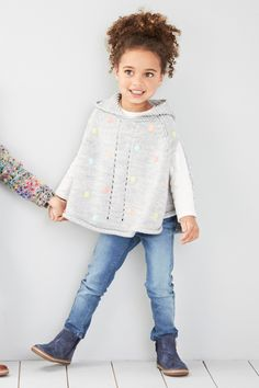 Buy Grey Spot Poncho (0-6yrs) online today at Next: Israel