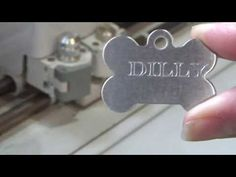 Engraving with Cricut: Dog Tags for my Grand Dogs - YouTube