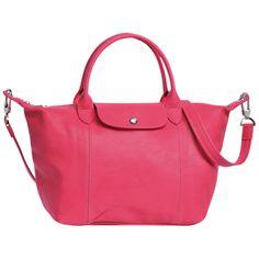 Handbag - Le Pliage Cuir - Handbags - Longchamp - Vermilion - Longchamp Italy