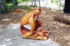 Chainsaw Art by George / Vero Beach, FL...great sealife & wildlife sculptures by a local artist!!