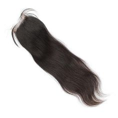 Lace closure human hair - Straight - Peruvian- 7A, colour 1B. Price £53: www.absoluteboutique.com