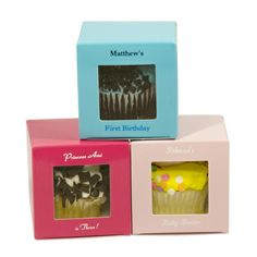 Colored Square Window Cupcake or Muffin Boxes