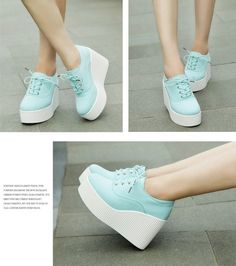 Creepers New Womens Canvas High Platform Wedge Sneakers Tennies Shoes US 7 5 | eBay