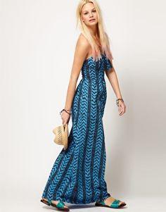 ASOS Maxi Dress in Aztec Print