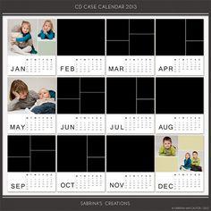 CD Case Calendar 2013 :: Calendars :: Memory Scraps